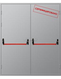 Дверь противопожарная двупольная глухая с антипаникой