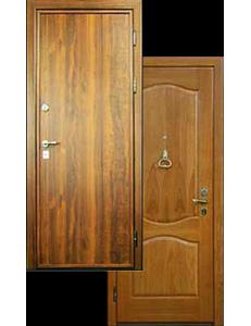 Двери ламинат металлические-массив дуба ДВ-2