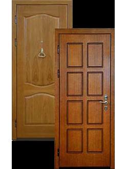 Двери кофейные массив дуба МДФ ДВ-1