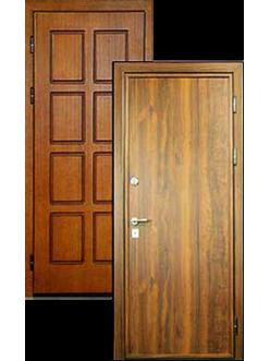 Двери c МДФ накладкой под ламинат ДВ-1