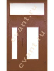 Подъездные двери глухие со стеклом-3