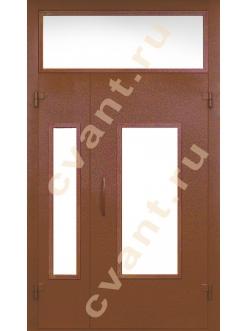 Входные подъездные двери глухие со стеклом-3