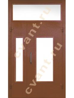 Двери в подъезд металлические с тремя стеклами
