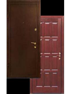 Двери металлические с порошковой окраской массив дуба ДВ-2